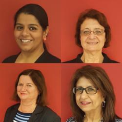 David Garner, Gayatri Mahesh, Jane Connors, Margaret Foran & Nadine Khoury